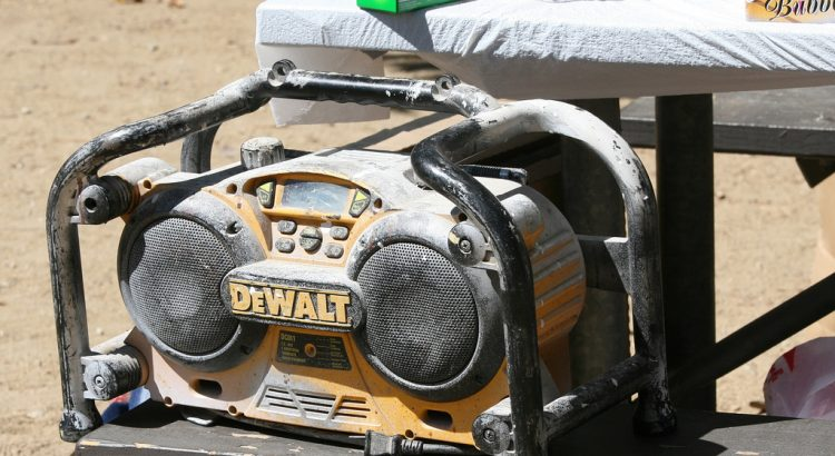 portable jobsite radio