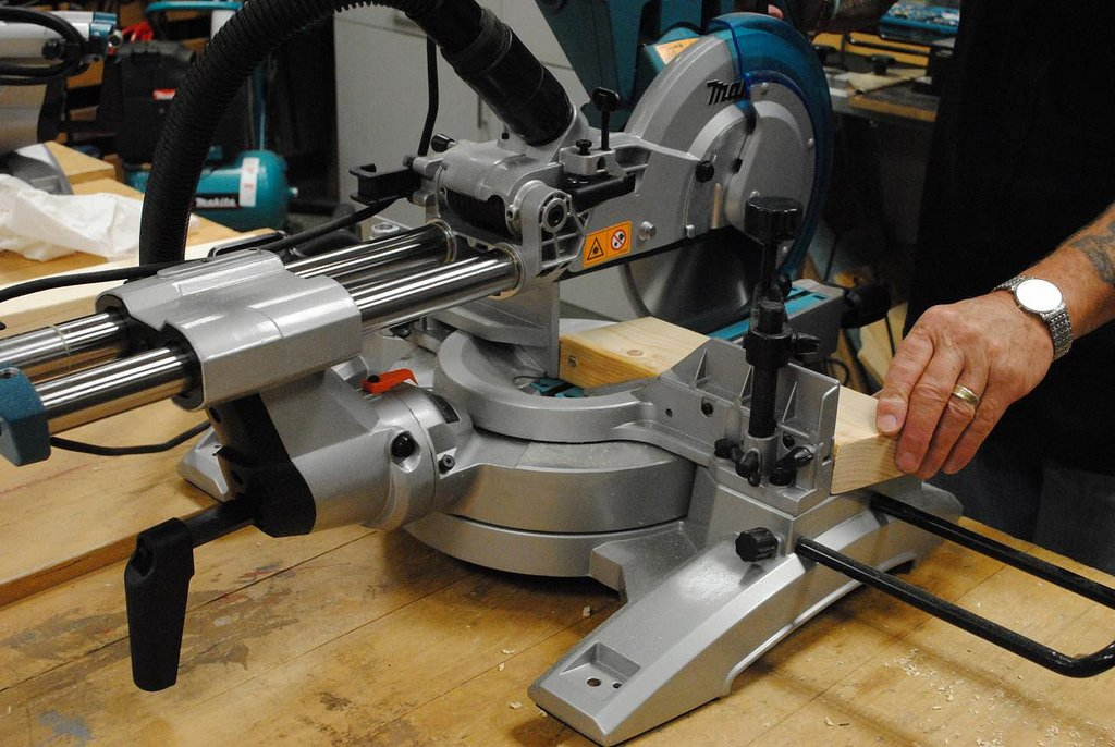 using a compound miter saw